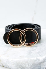 2 Waist Time Black Belt at reddressboutique.com