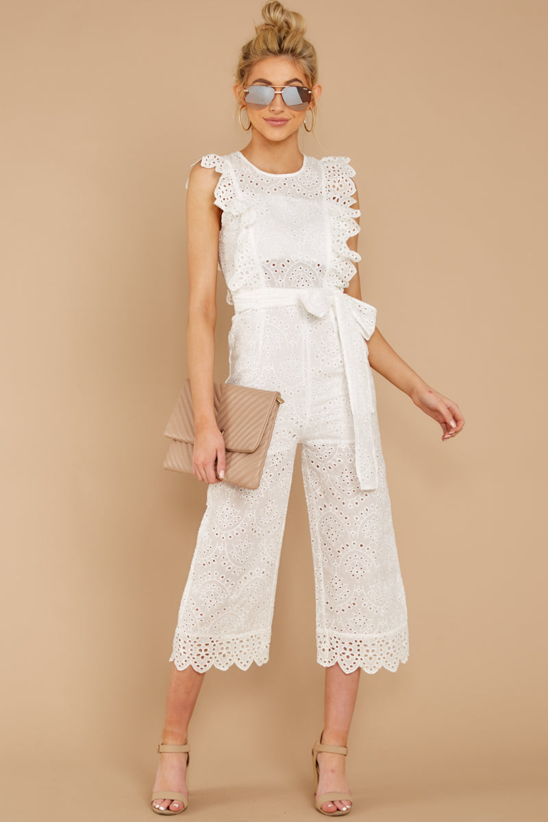 1 How To Play White Lace Jumpsuit at reddressboutique.com
