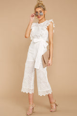 2 How To Play White Lace Jumpsuit at reddressboutique.com