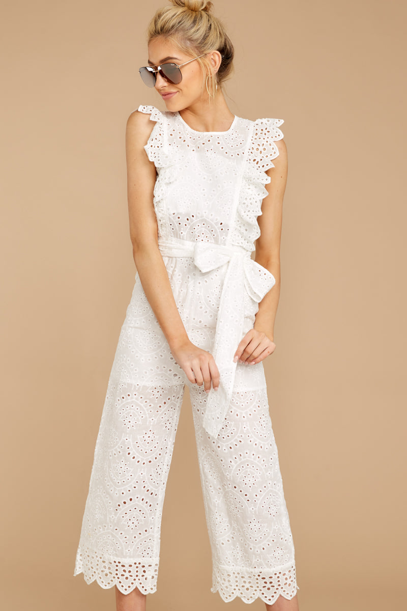 3 How To Play White Lace Jumpsuit at reddressboutique.com