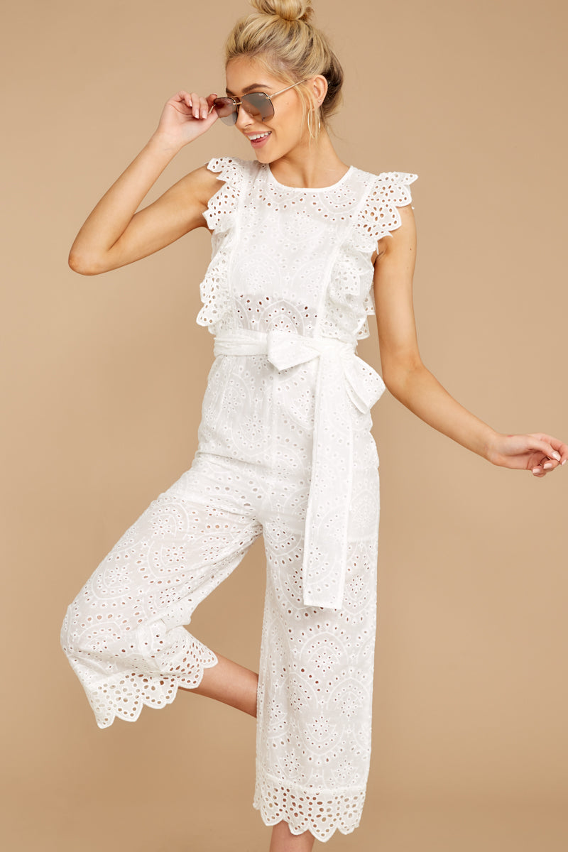 4 How To Play White Lace Jumpsuit at reddressboutique.com