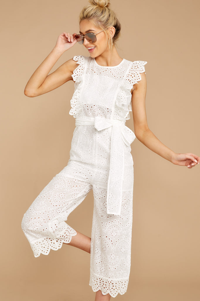 3 Have It Here White Midi Jumpsuit at reddressboutique.com