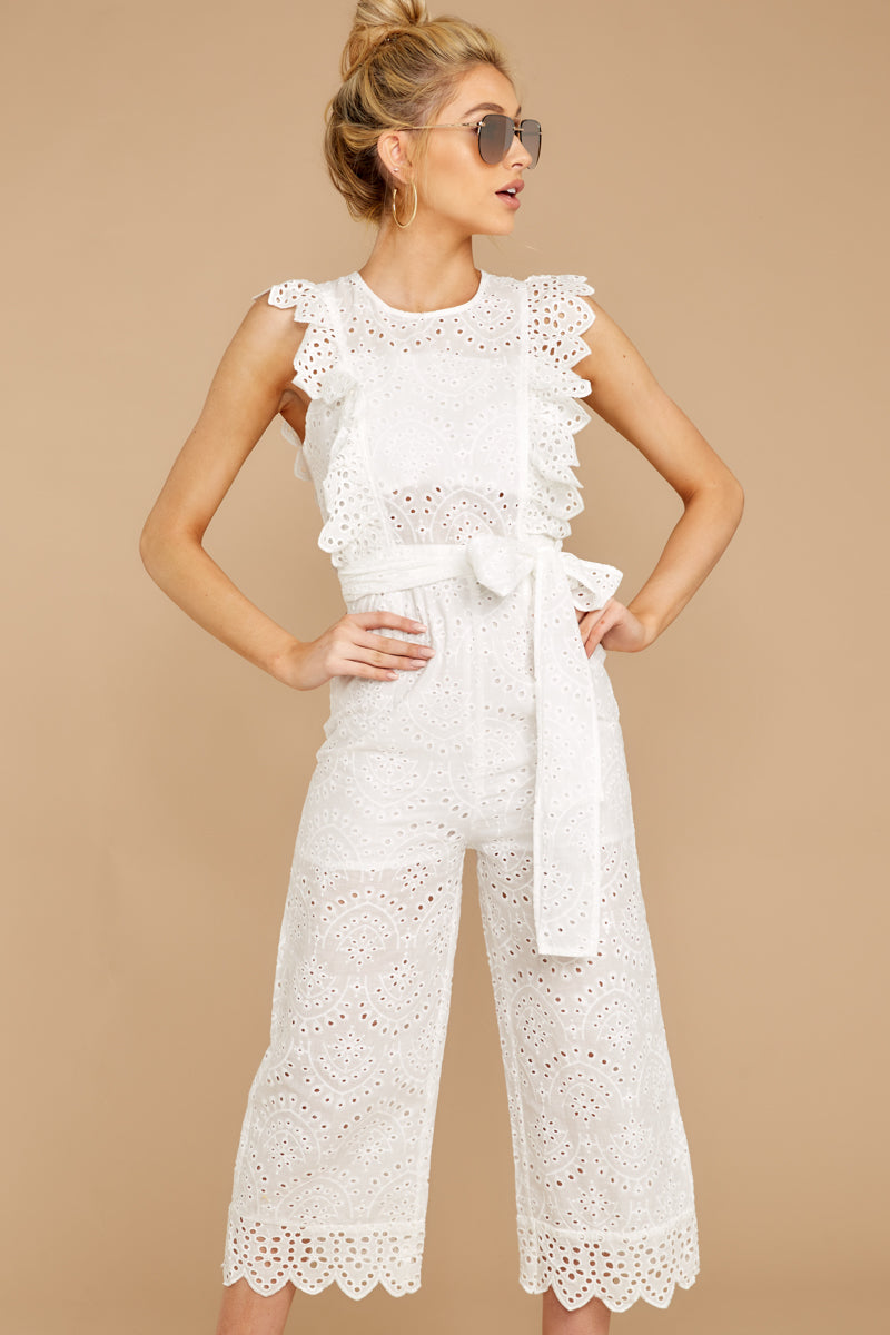 5 How To Play White Lace Jumpsuit at reddressboutique.com