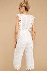 6 How To Play White Lace Jumpsuit at reddressboutique.com