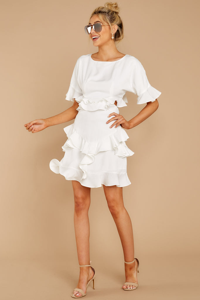 4 Someday Soon White Dress at reddressboutique.com