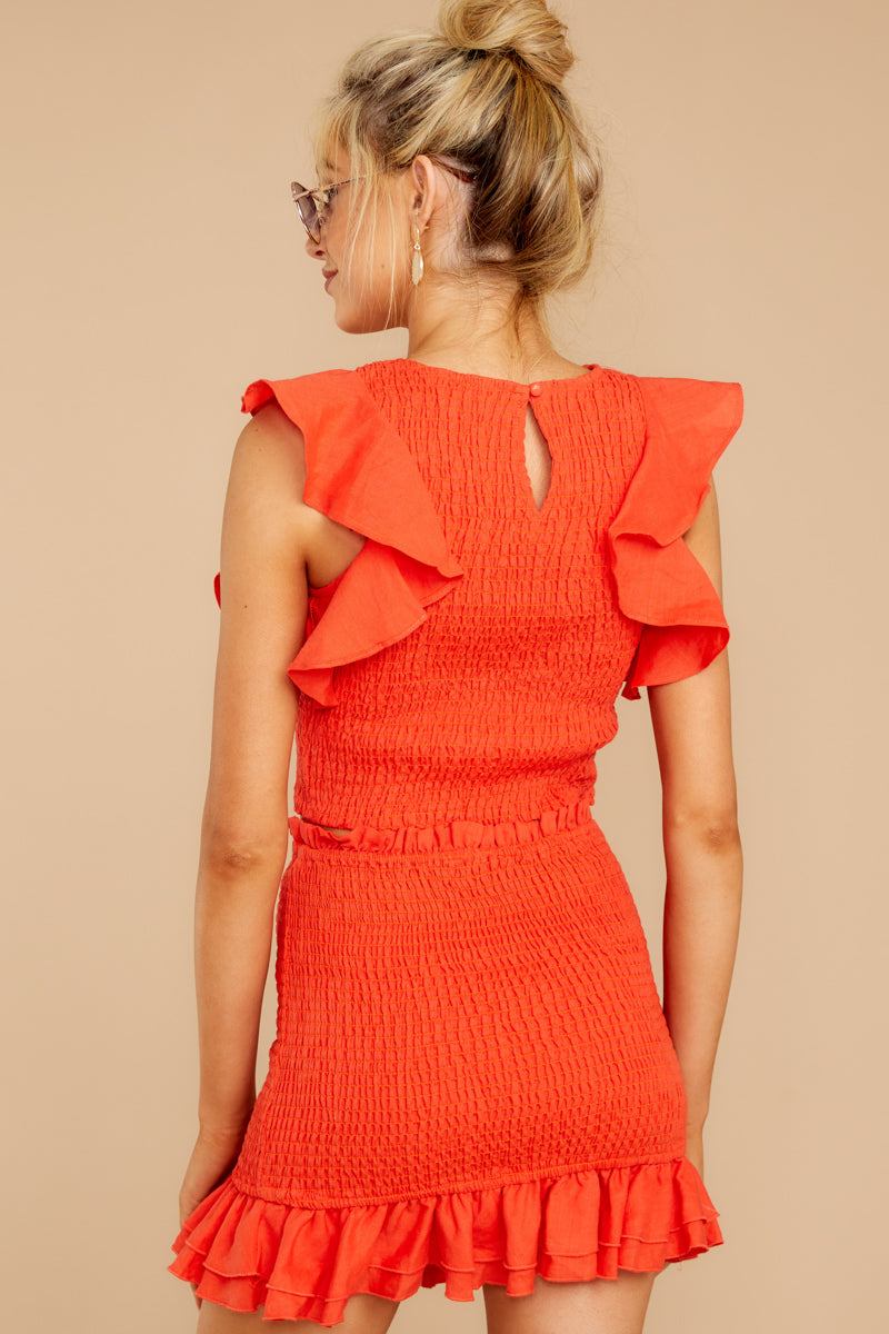 Not Without You Coral Orange Two Piece Set
