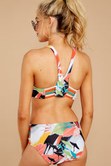 6 Finding Paradise Orange Tropical Print Bikini Top at reddressboutique.com