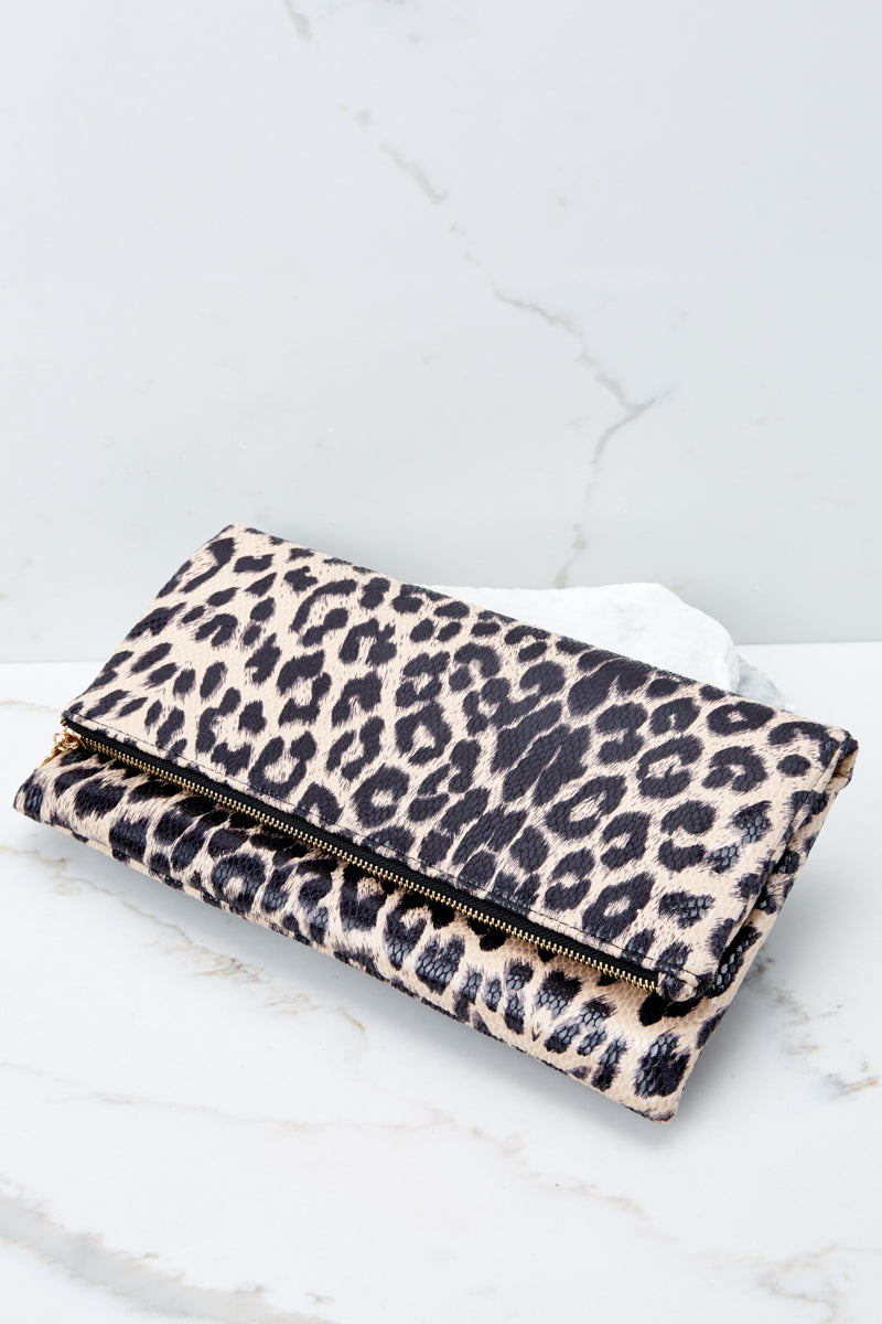 3 This Wild Life Light Leopard Clutch at reddressboutique.com