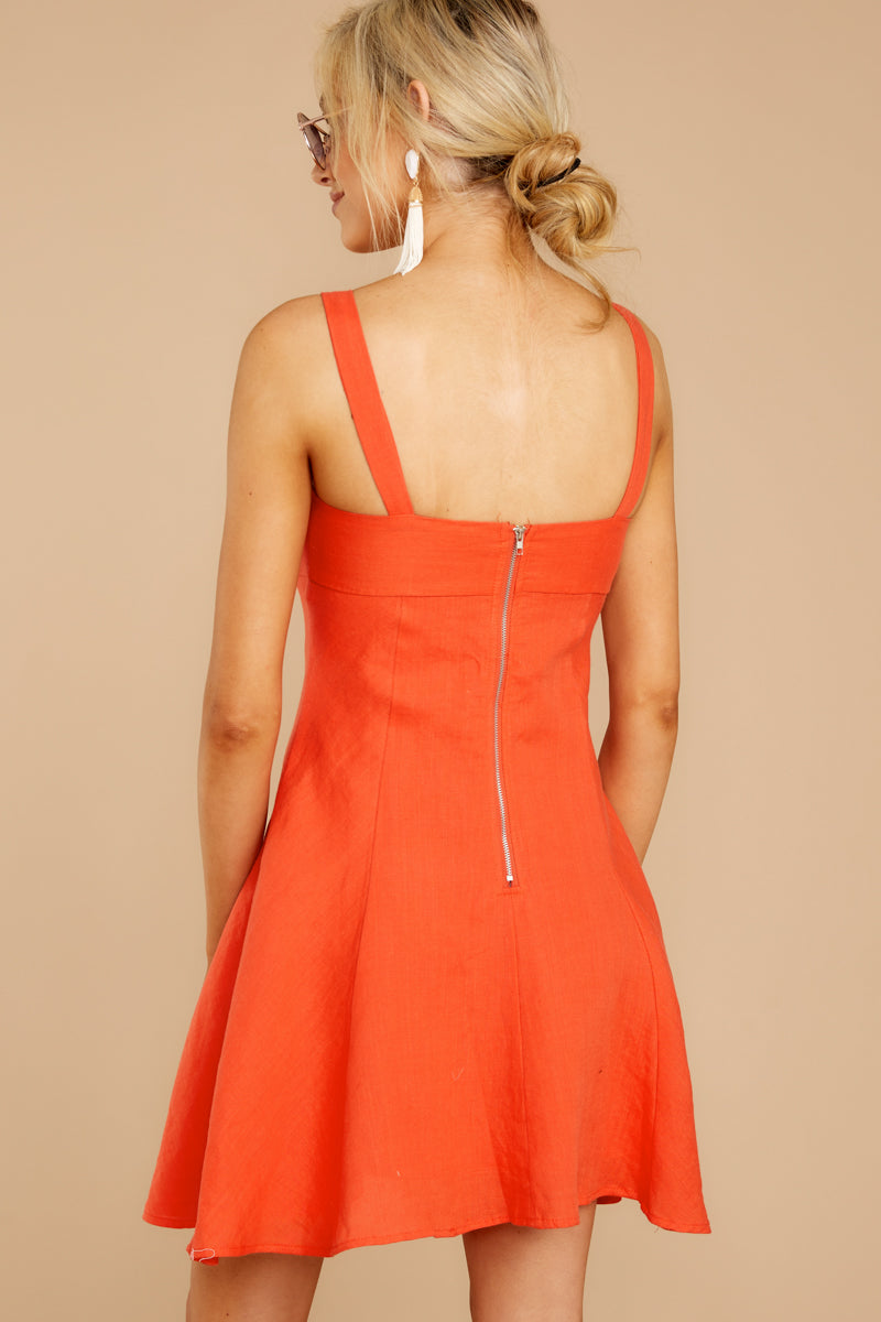 Ready To See This Coral Orange Dress