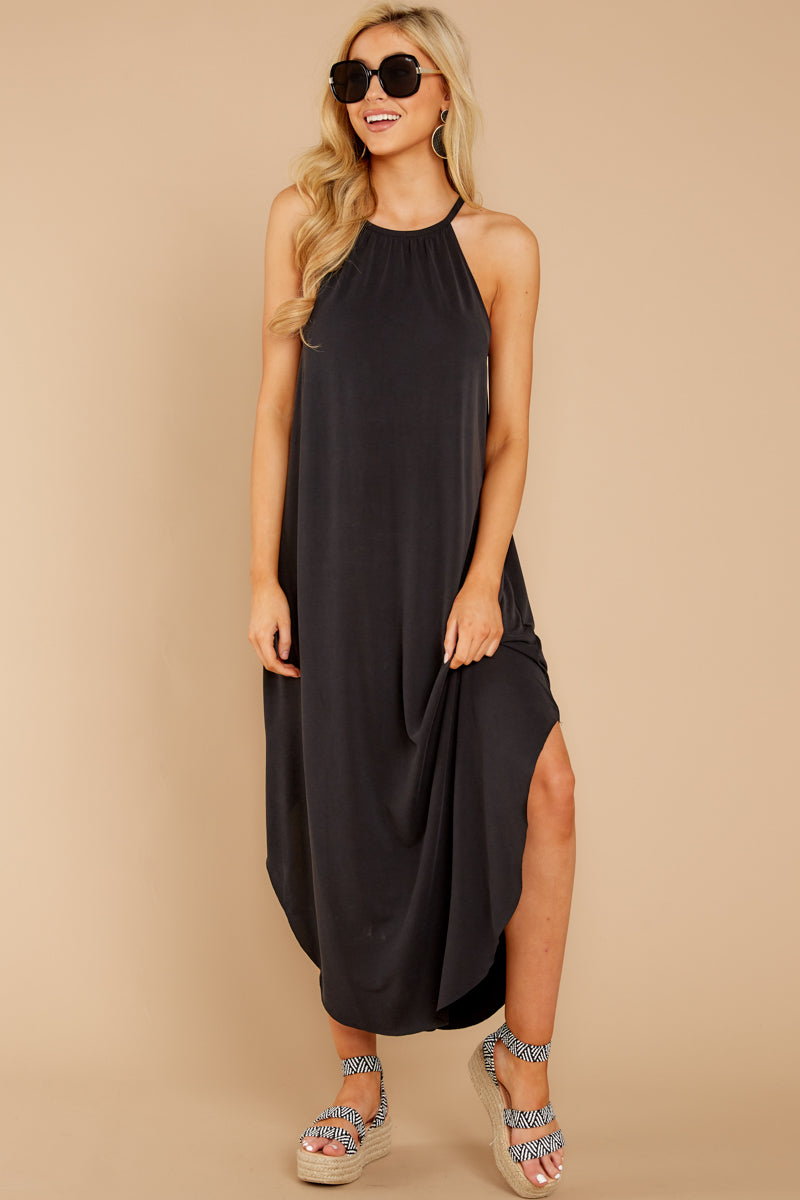 Black Halter Maxi Dress