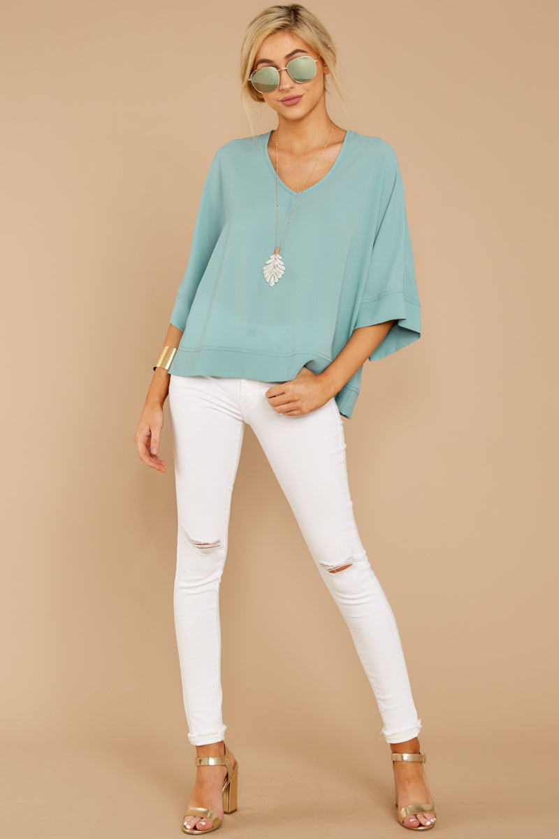 1 Comin' For You Seafoam Top at reddressboutique.com