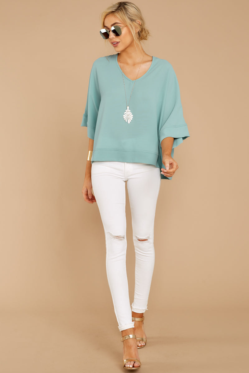 2 Comin' For You Seafoam Top at reddressboutique.com