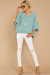 3 Comin' For You Seafoam Top at reddressboutique.com