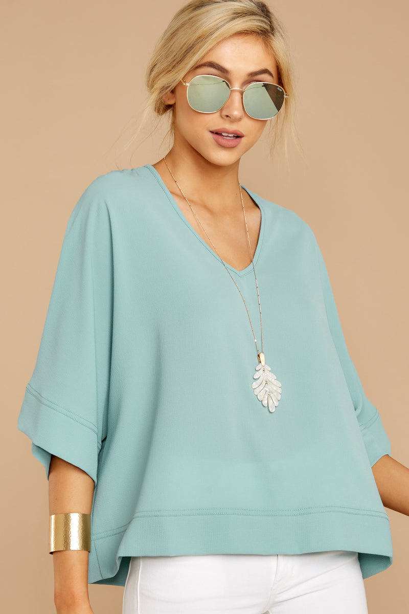 5 Comin' For You Seafoam Top at reddressboutique.com