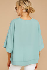 7 Comin' For You Seafoam Top at reddressboutique.com