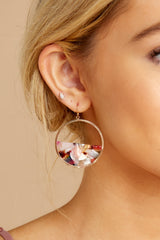 3 All Day Pink Multi Tortoise Acrylic Earrings at reddressboutique.com