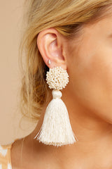 1 Give Me It All Ivory Statement Earrings at reddressboutique.com