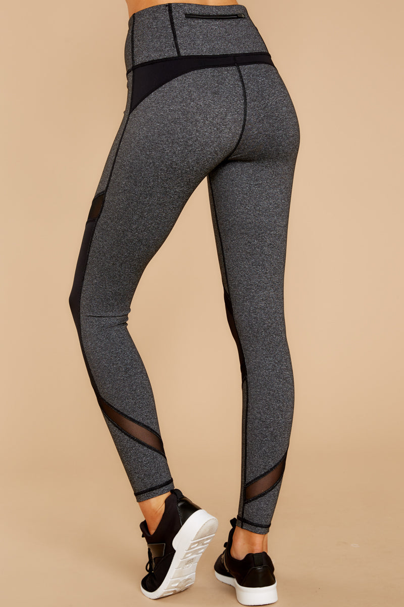 Get Ready For This Grey And Black Leggings