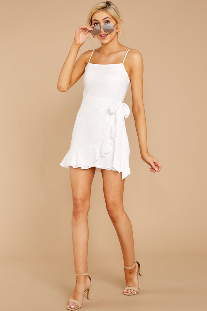 3 At The Oasis White Dress at reddressboutique.com