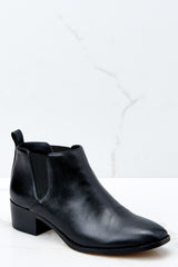 1 Jahlily Ankle Bootie In Black at reddressboutique.com