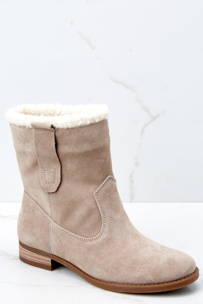 2df249c68adf3 Sole Society Beige Verona Bootie - Shearling Ankle Boot - Shoes ...