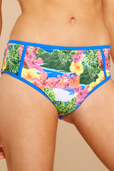 1 Secret Cove Island Print Bikini Bottoms at reddressboutique.com