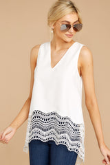 5 It's The Big Time White Tank Top at reddressboutique.com