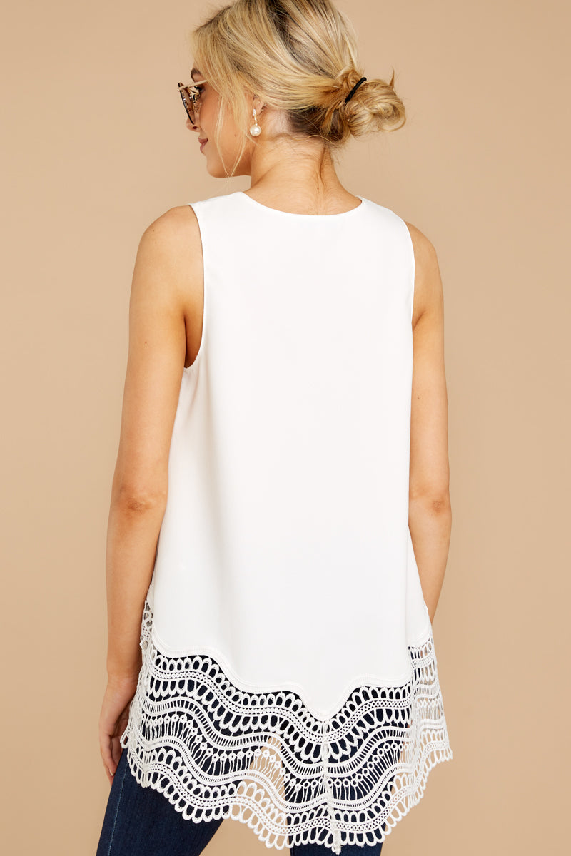 7 It's The Big Time White Tank Top at reddressboutique.com
