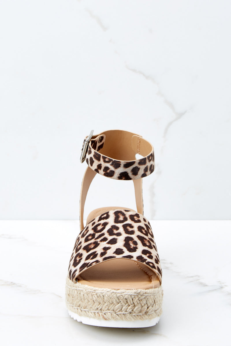 2 Know The Way To You Leopard Print Flatform Sandals at reddressboutique.com