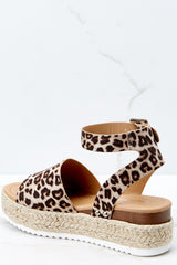 3 Know The Way To You Leopard Print Flatform Sandals at reddressboutique.com
