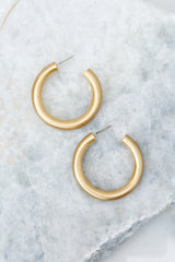 2 Over Your Head Gold Hoop Earrings at reddressboutique.com