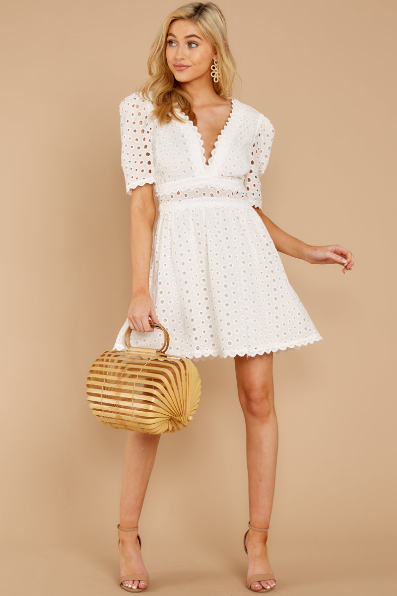 1 Southern Calling White Lace Dress at reddressboutique.com
