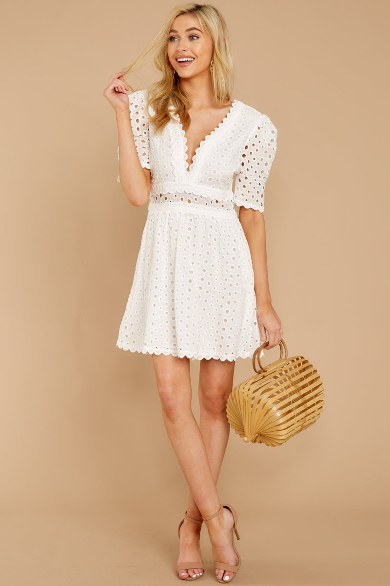 3 Southern Calling White Lace Dress at reddressboutique.com
