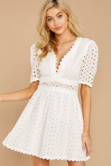 4 Southern Calling White Lace Dress at reddressboutique.com