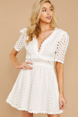 5 Southern Calling White Lace Dress at reddressboutique.com