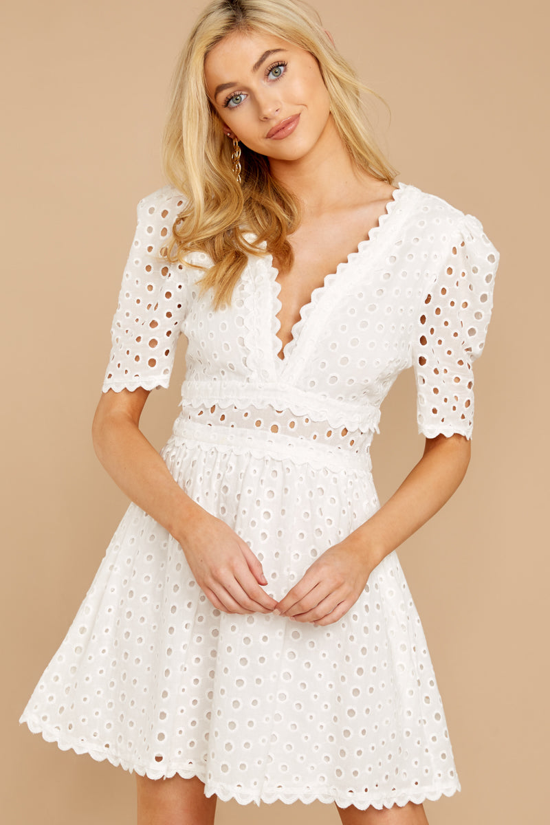 6 Southern Calling White Lace Dress at reddressboutique.com