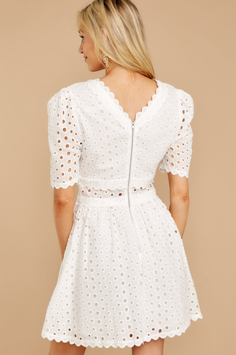 7 Southern Calling White Lace Dress at reddressboutique.com