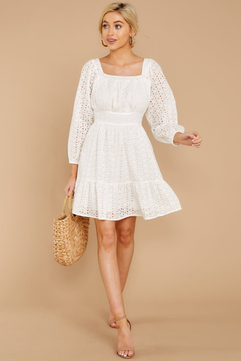 3 Someday Soon White Dress at reddressboutique.com