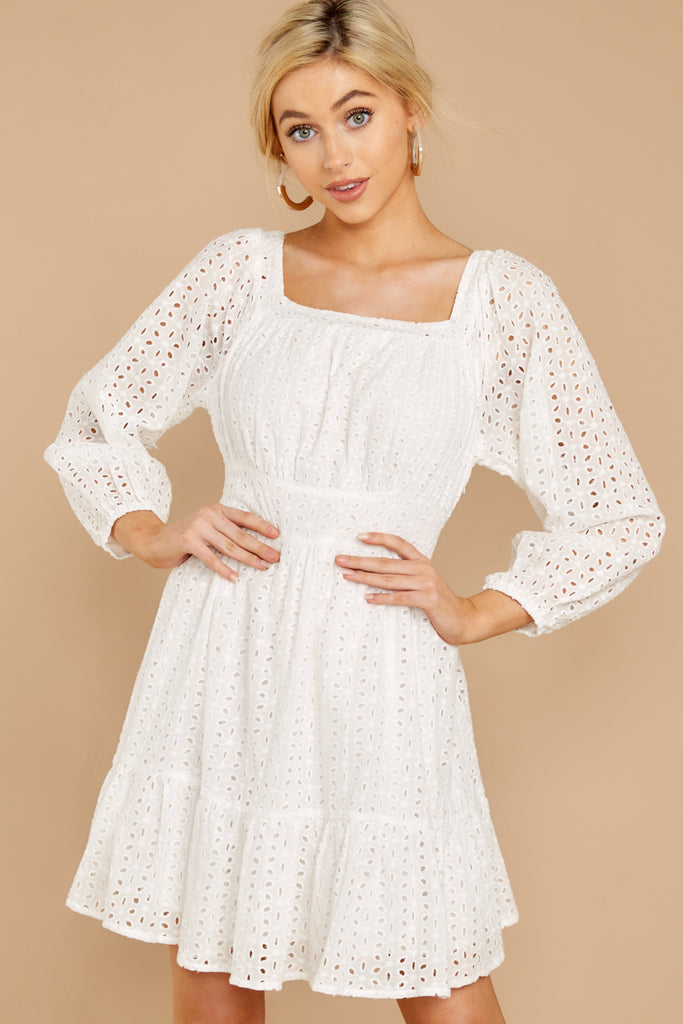 2 Southern Calling White Lace Dress at reddressboutique.com