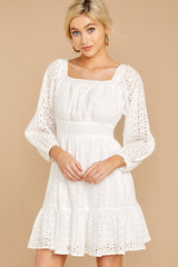 6 Someday Soon White Dress at reddressboutique.com