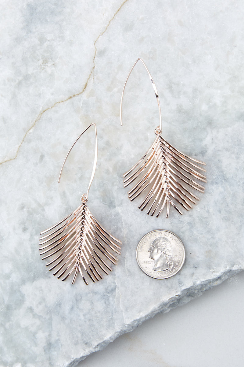 3 What A Welcome Rose Gold Earrings at reddress.com