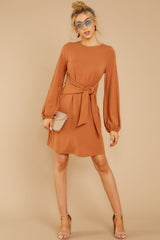 1 Promises Kept Caramel Dress at reddressboutique.com