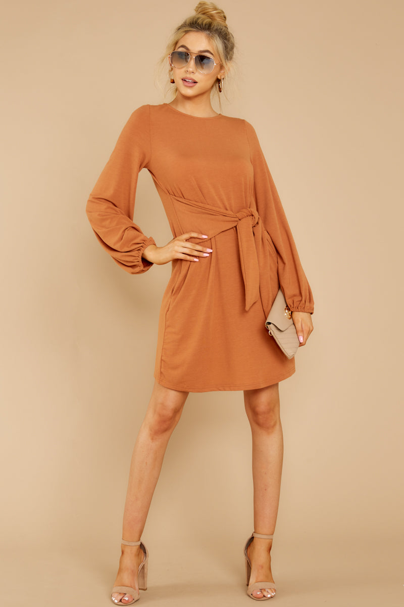 2 Promises Kept Caramel Dress at reddressboutique.com