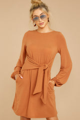4 Promises Kept Caramel Dress at reddressboutique.com