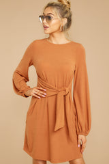 5 Promises Kept Caramel Dress at reddressboutique.com