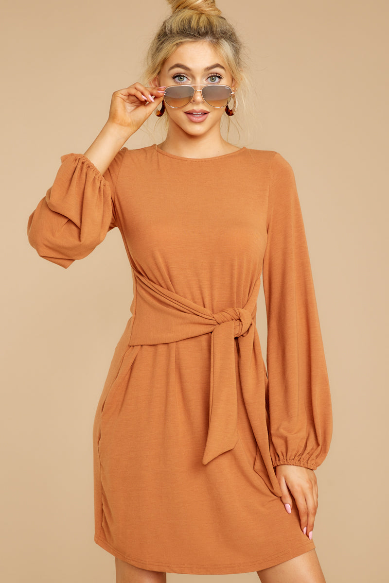 6 Promises Kept Caramel Dress at reddressboutique.com