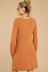 7 Promises Kept Caramel Dress at reddressboutique.com