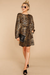 2 Promises Kept Brown Leopard Print Dress at reddressboutique.com