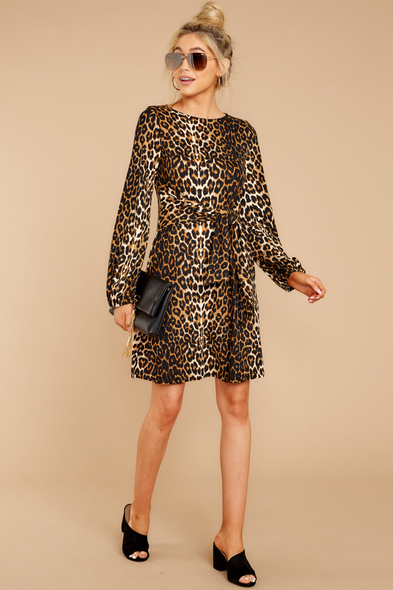 3 Promises Kept Brown Leopard Print Dress at reddressboutique.com