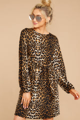 5 Promises Kept Brown Leopard Print Dress at reddressboutique.com